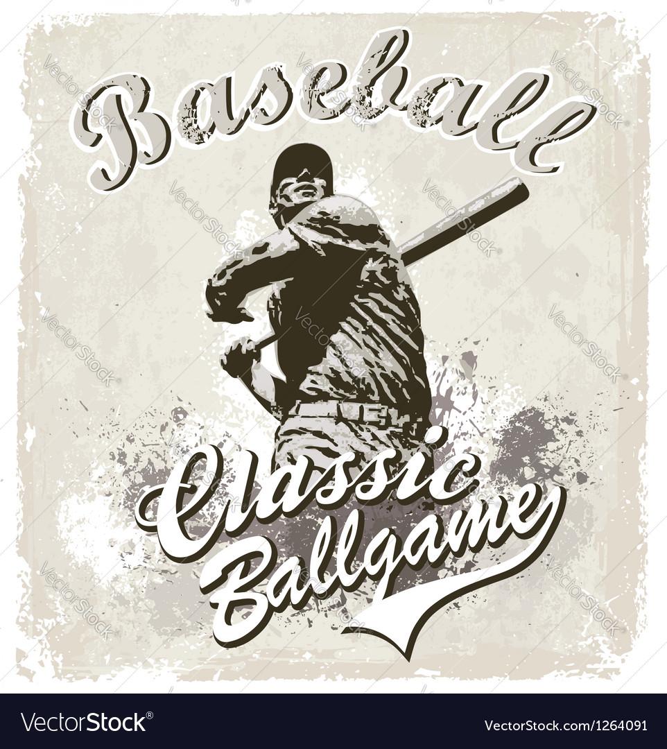 Baseball classic vector image