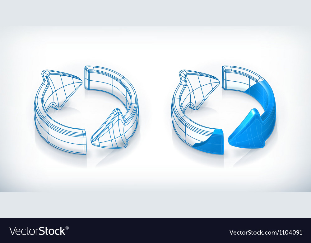 Drawing arrows vector image