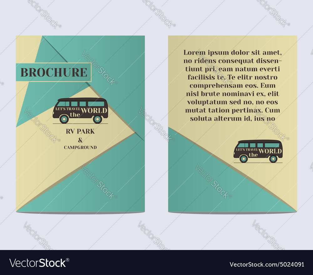 Travel Brochure Flyer design Layout template Rv vector image