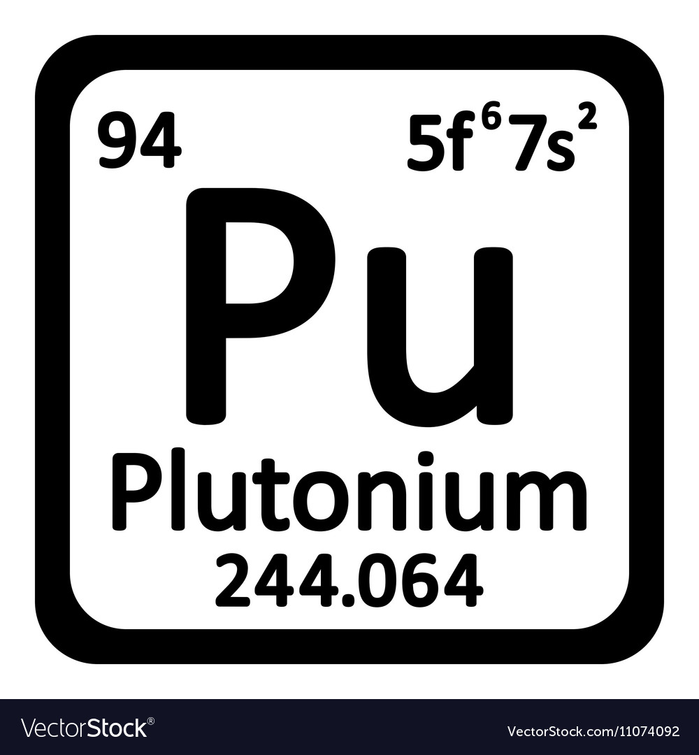 Periodic table element plutonium icon royalty free vector periodic table element plutonium icon vector image biocorpaavc Image collections