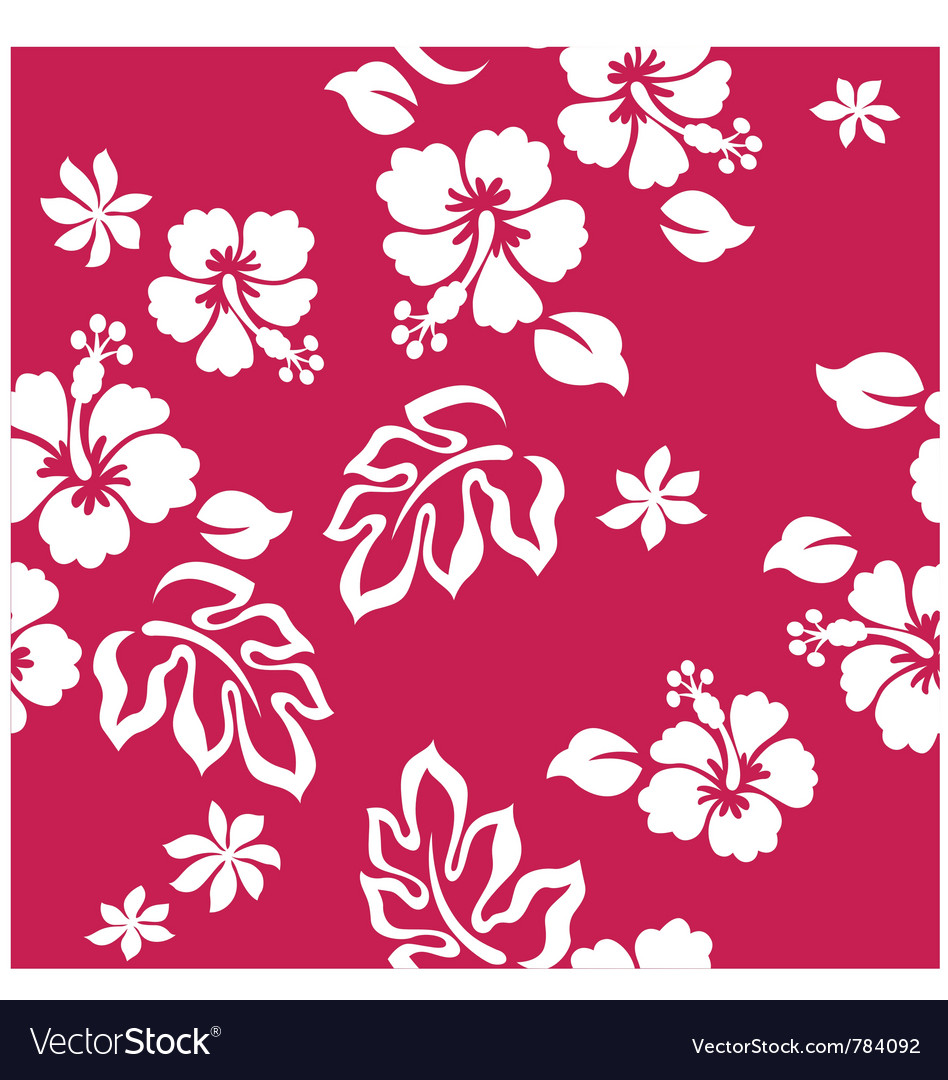 Seamless hibiscus vector image