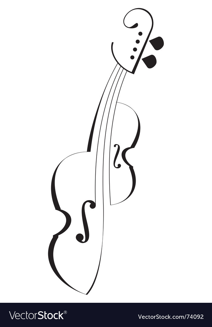 Tattoo violin vector image