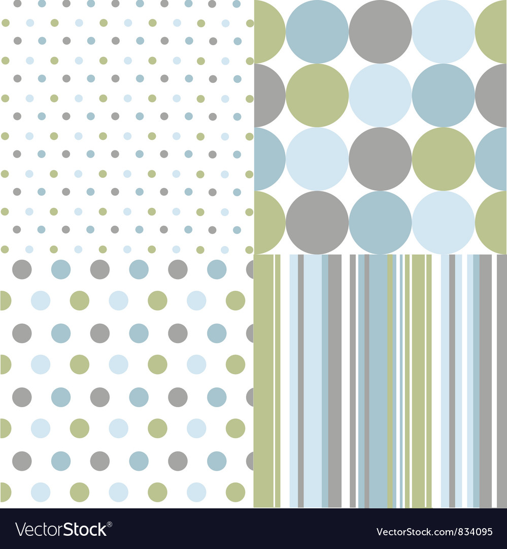 Seamless patterns polka dots Vector Image
