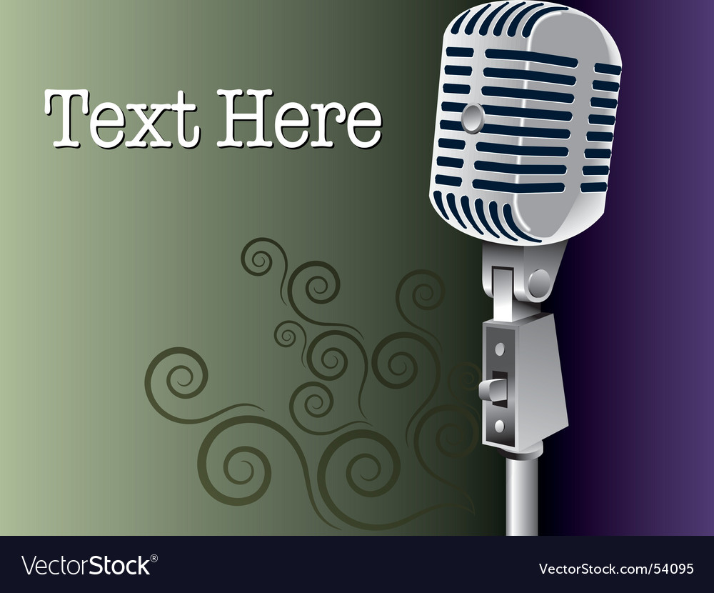 Grunge microphone vector image