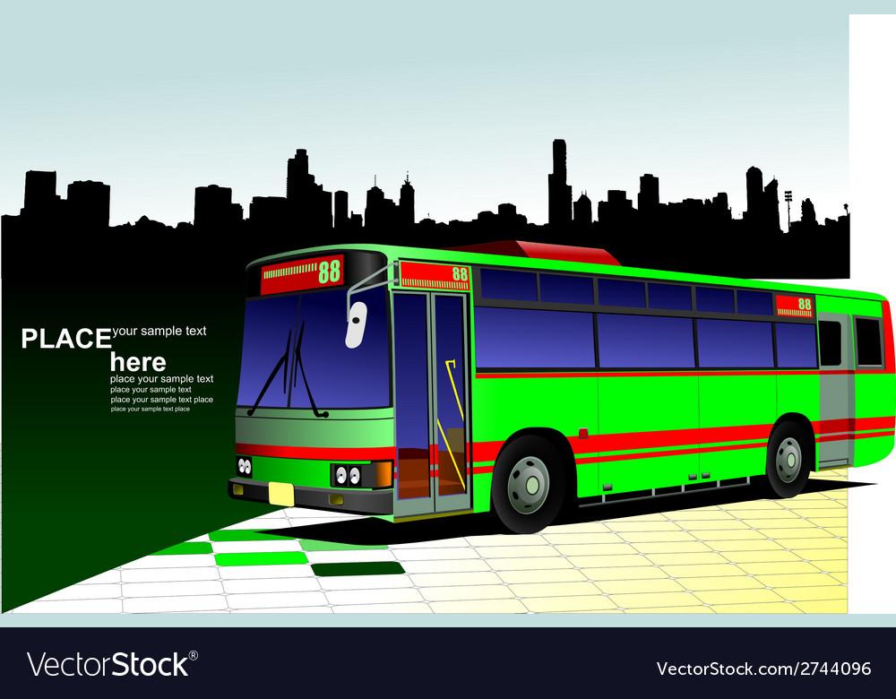 Al 0542 city bus 03 vector image