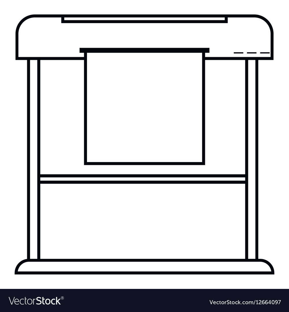 Printer icon outline style vector image