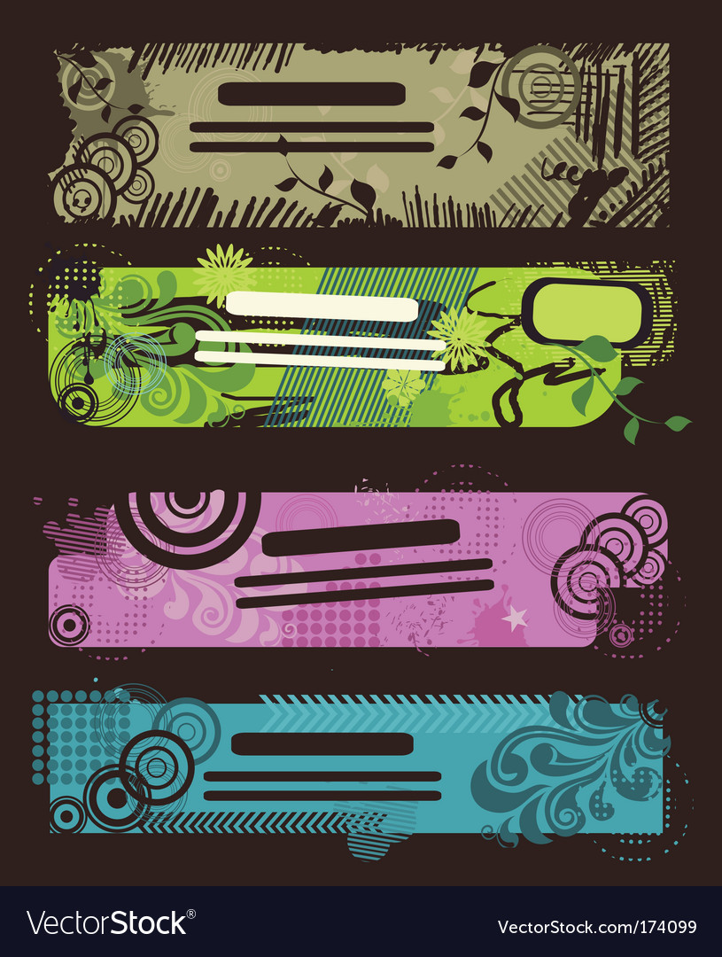 Tribal banners vector image