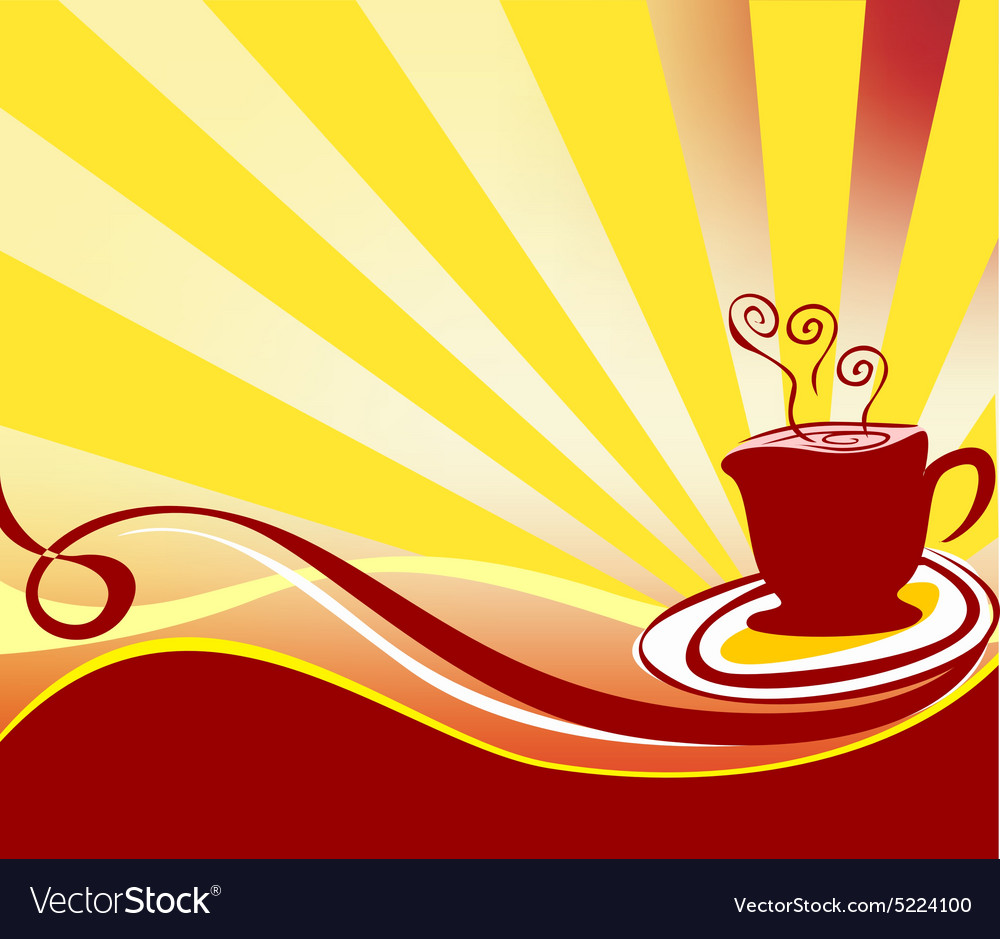 Coffee background logo vector image
