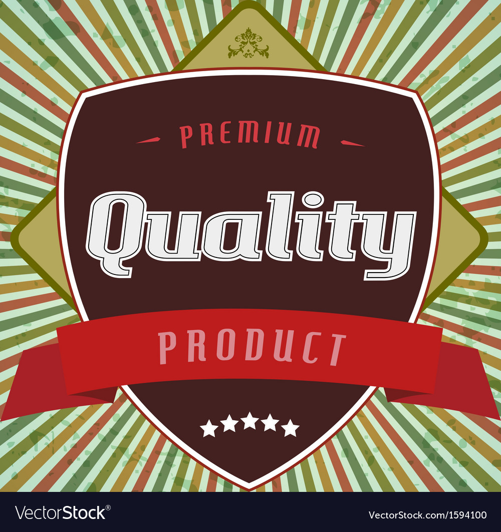 Retro vintage label on stripe background vector image