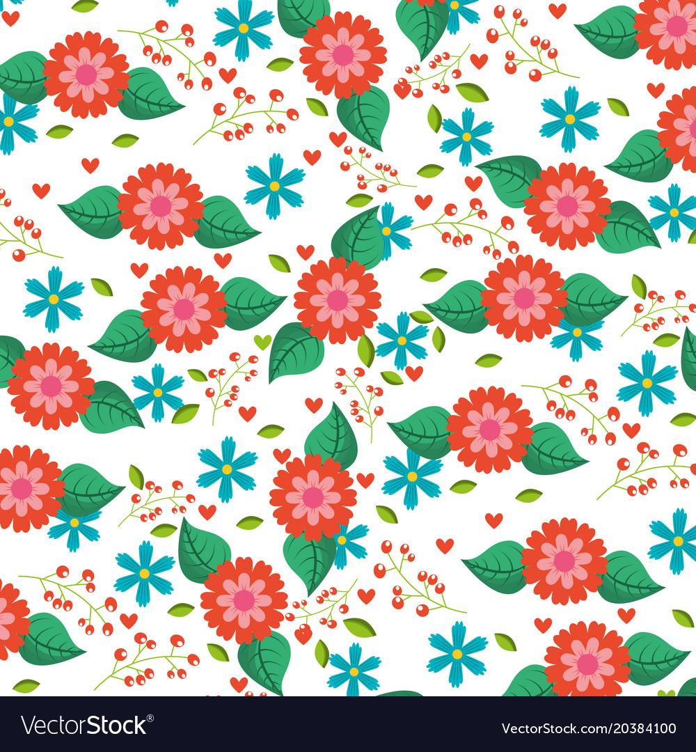 Spring flowers natural season pattern royalty free vector spring flowers natural season pattern vector image mightylinksfo
