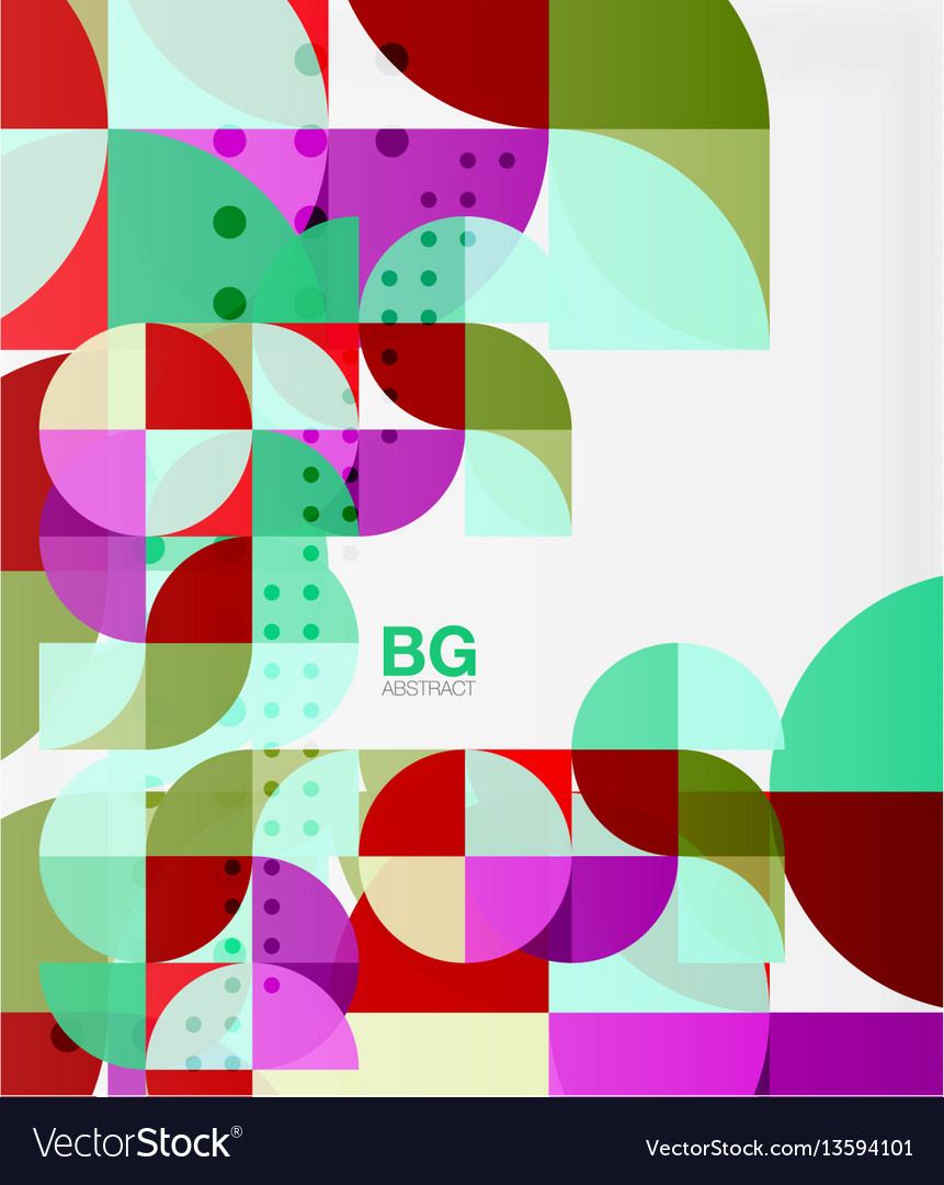 Colorful circles modern abstract composition with vector image