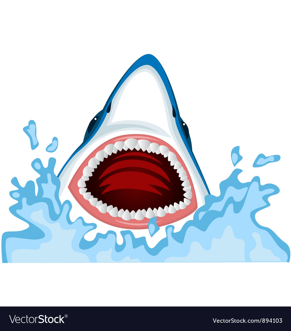 Angry Shark cartoon Vector Image