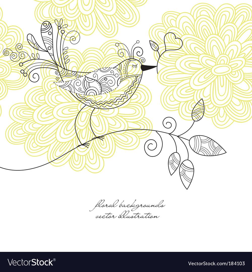 Bird background vector image