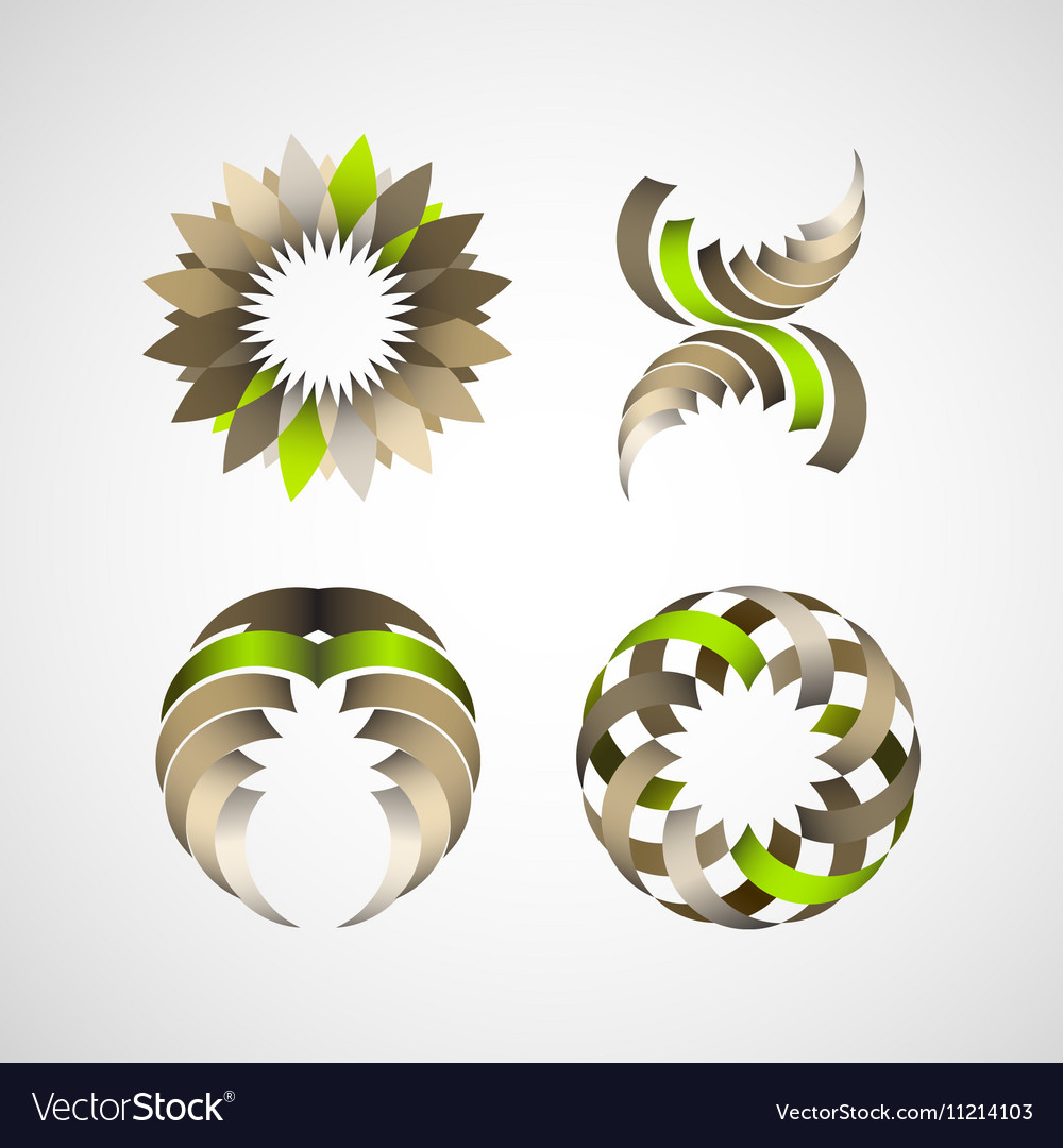Business Design elements icon set for print and we vector image