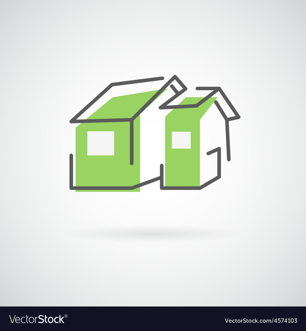 House design logo vector image