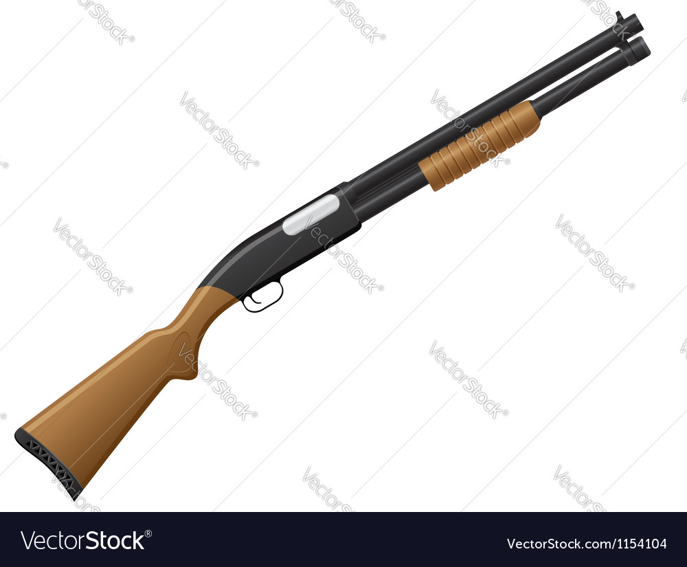 Shotgun 01 vector image