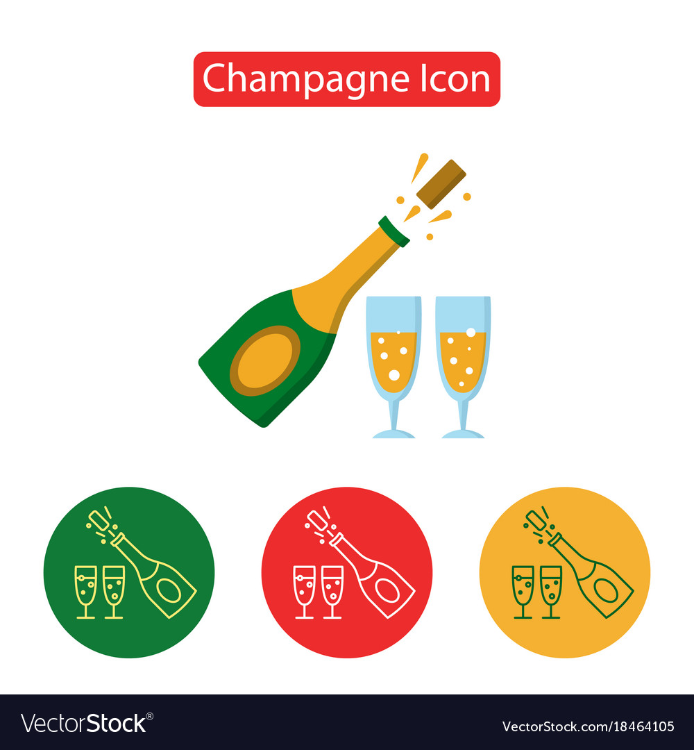 Champagne bottle explosion with cheering glasses vector image