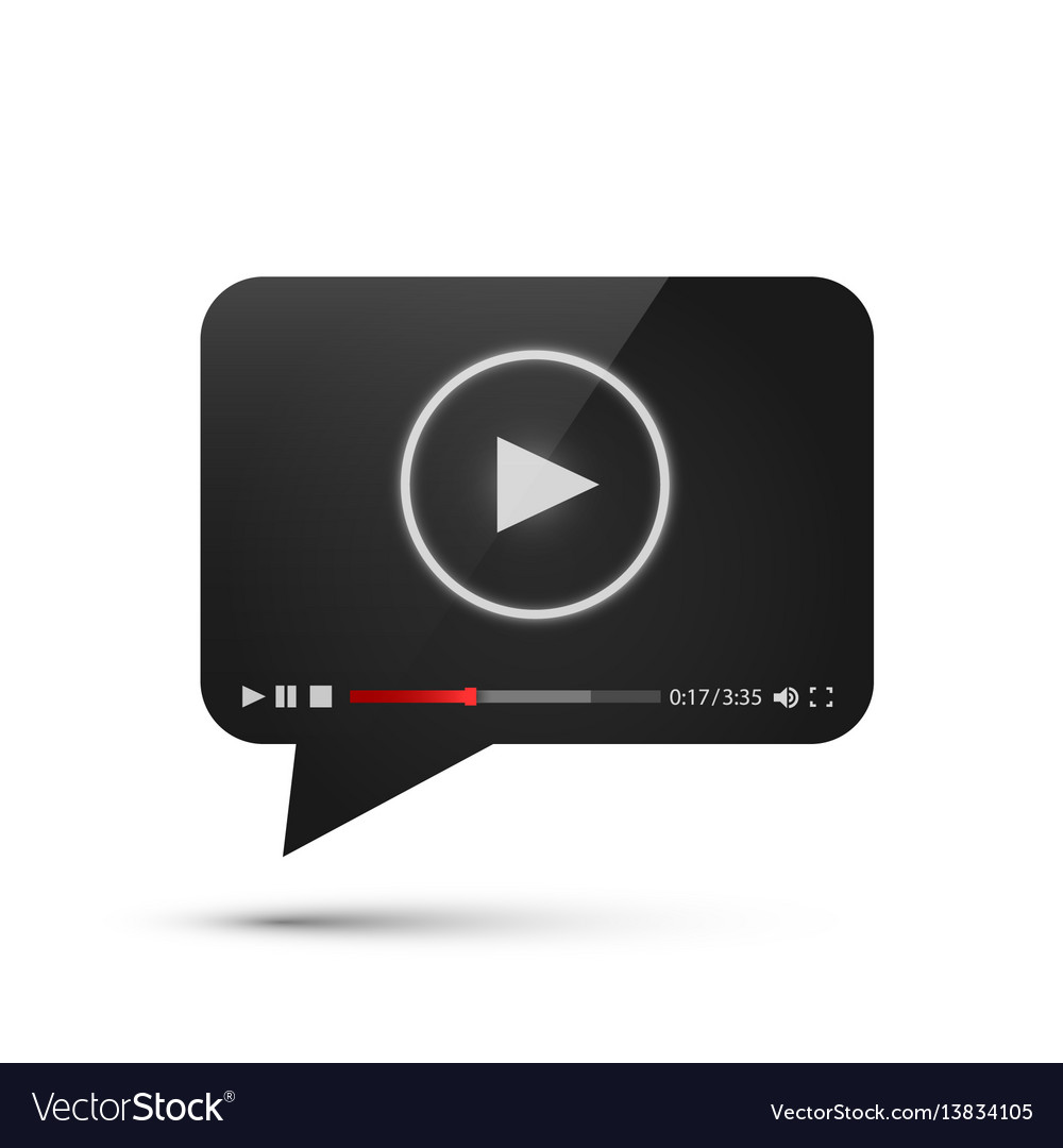 Chat video frame flat icon black object design vector image