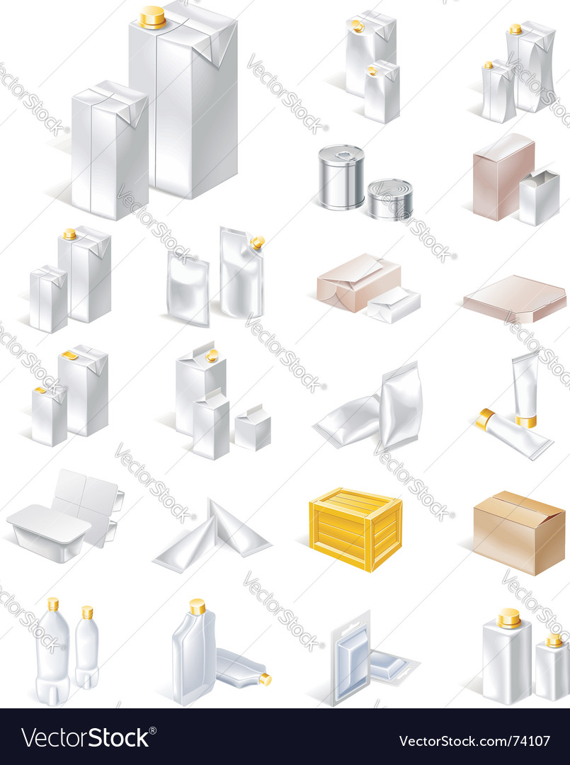 Packaging icon set vector image