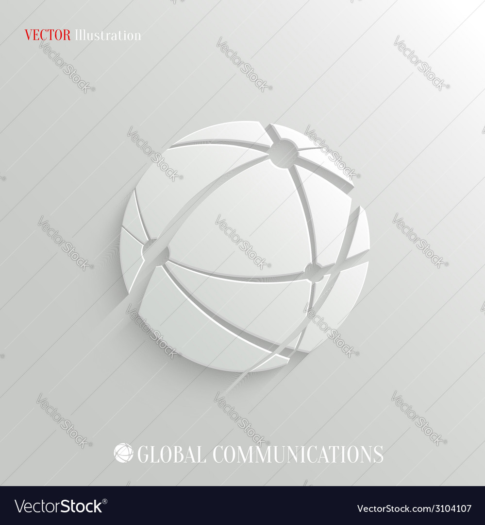 Global communications icon - web background vector image
