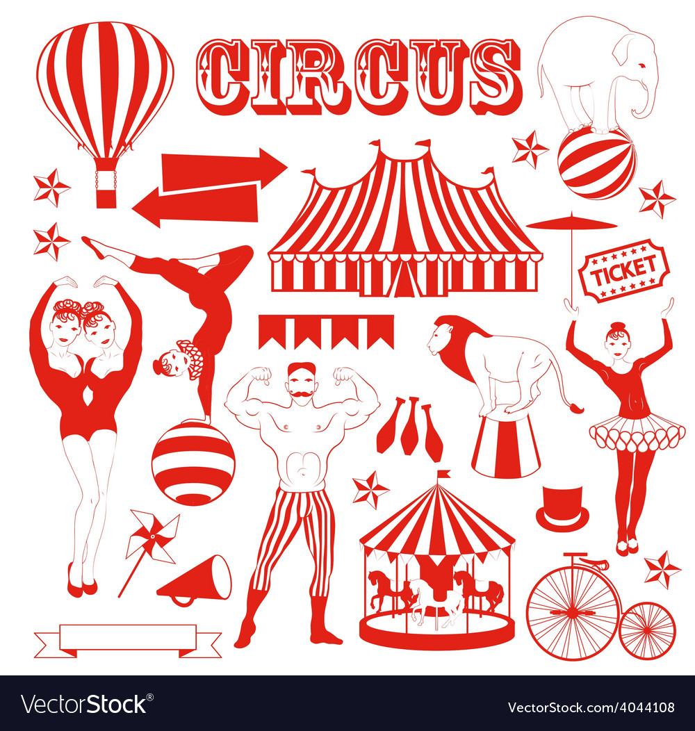 Pattern of the circus Royalty Free Vector Image