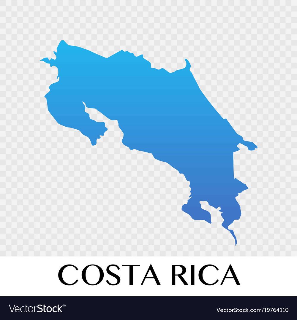 Costa rica map in north america continent design Vector Image
