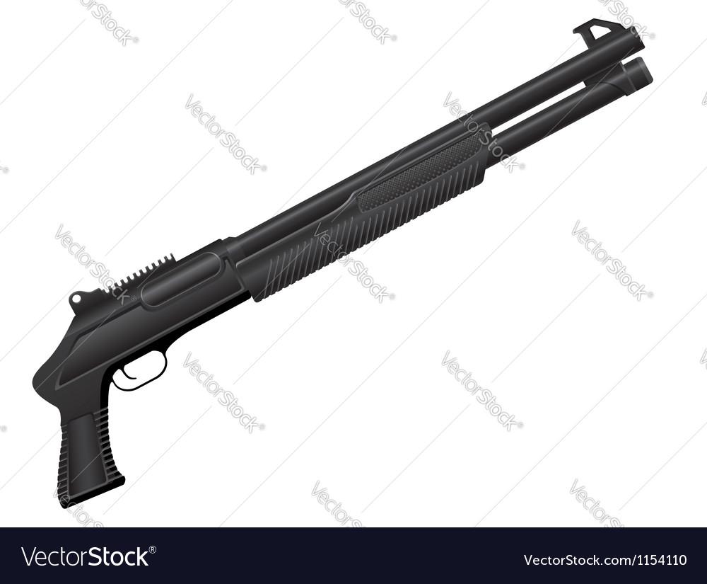 Shotgun 04 vector image