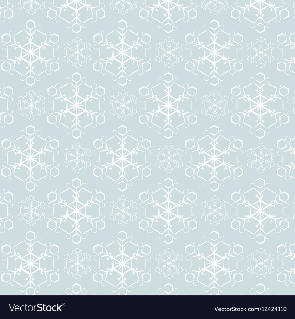 Snowflake pattern background vector image