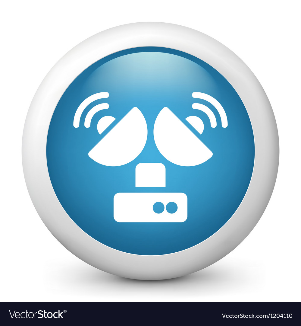 Television Reception glossy icon vector image