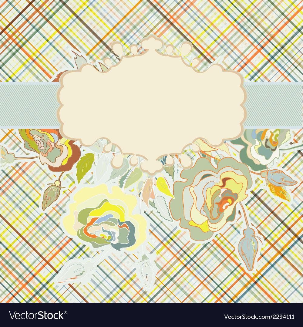 Vintage floral background EPS 8 vector image