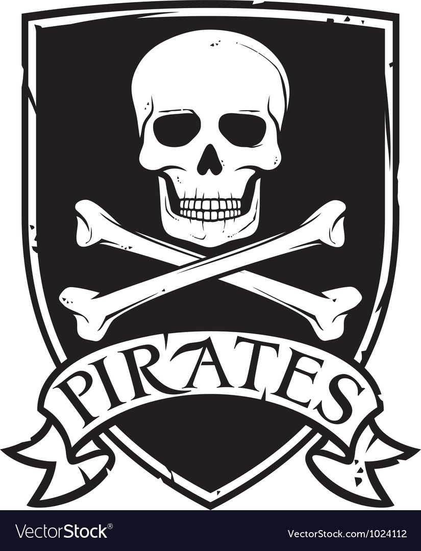 Pirates emblem vector image