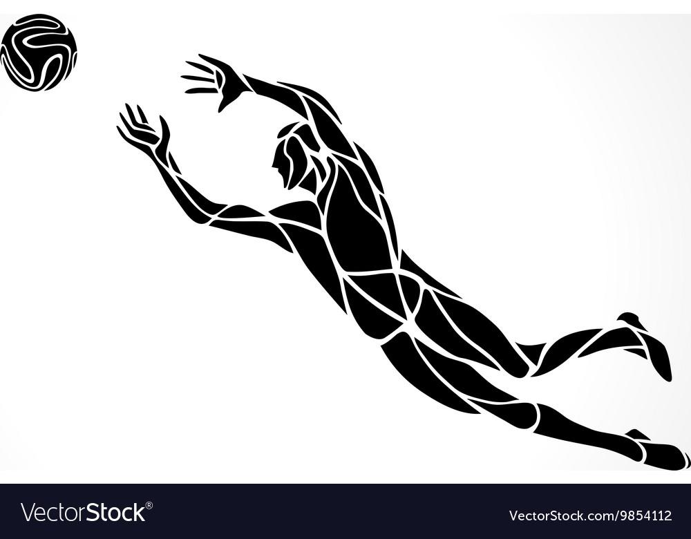 Soccer or football player goalkeeper sportsman vector image