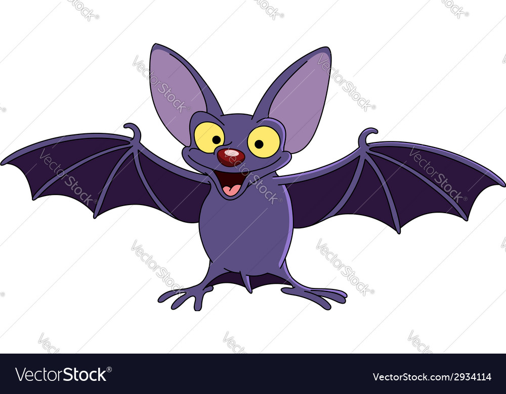 Bat with spread wings vector image