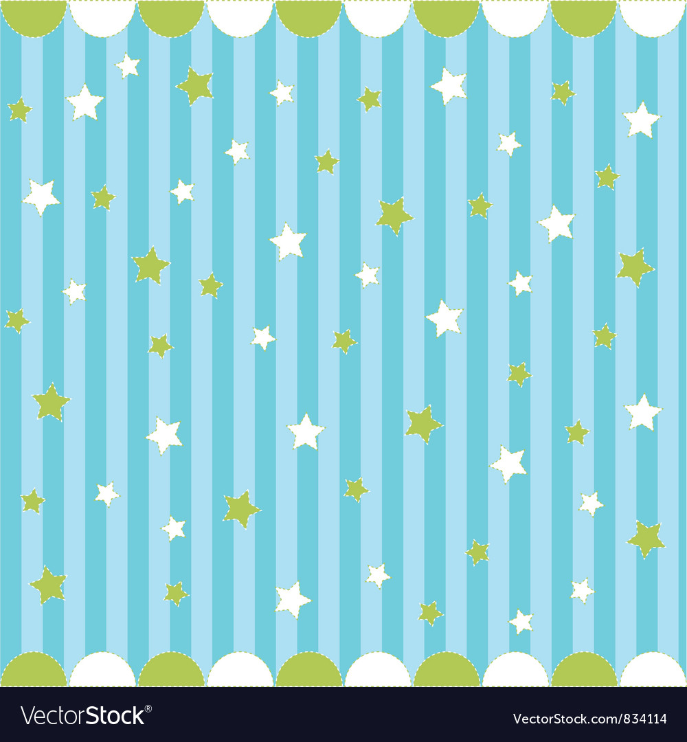 Cute seamless pattern vector image