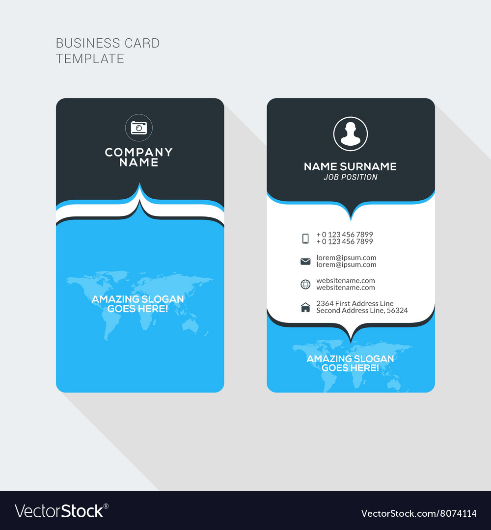 Modern Creative and Clean Two Sided Business Card Vector Image
