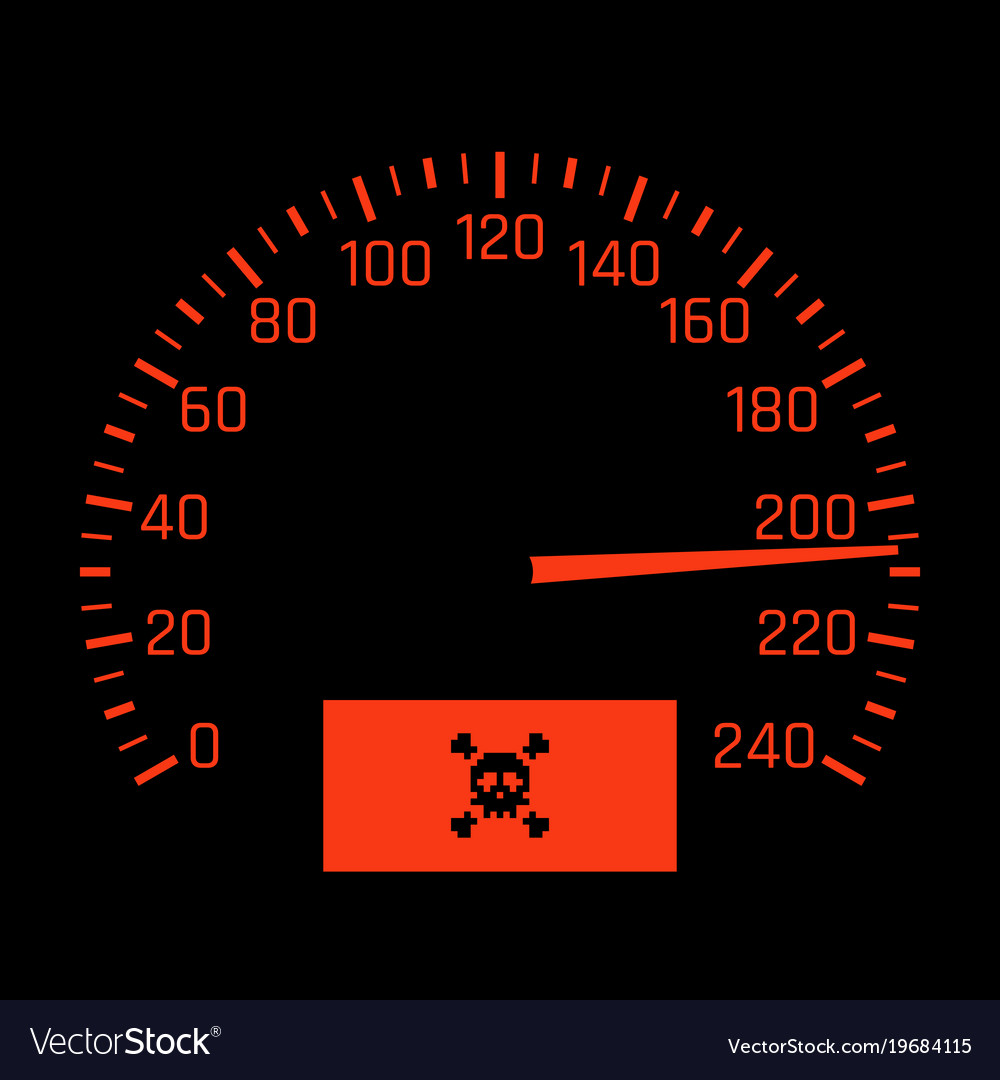 Car speedometer dial with skull symbol royalty free vector car speedometer dial with skull symbol vector image buycottarizona