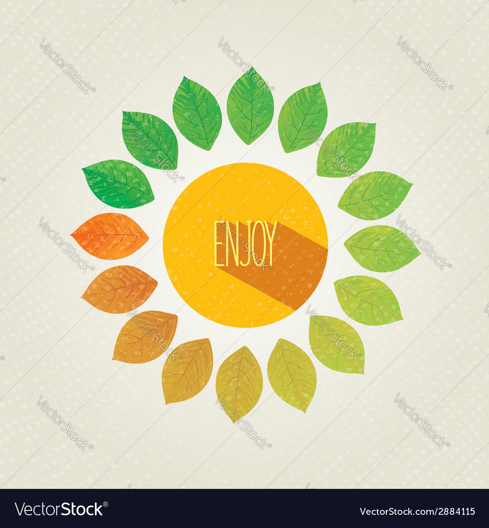 Enjoy autumn banner vector image