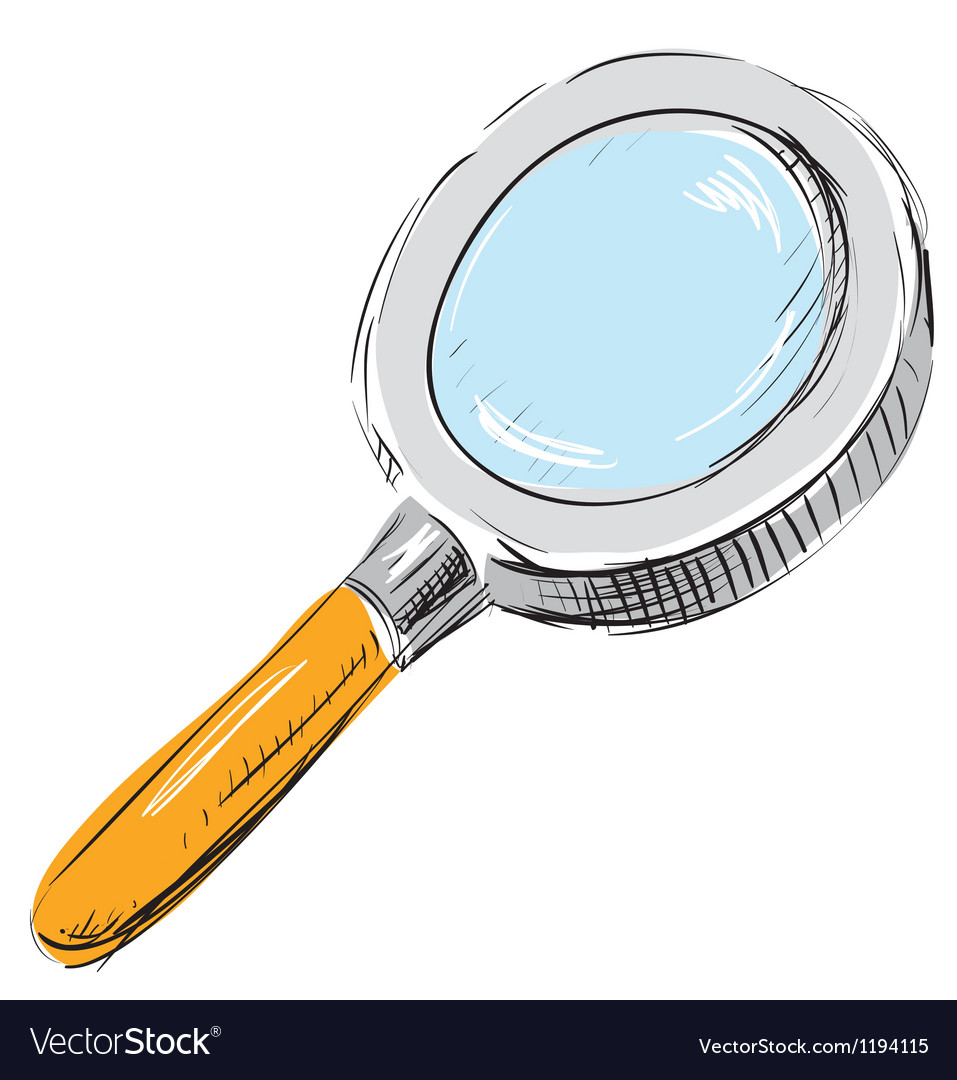 Magnifying glass search find icon vector image