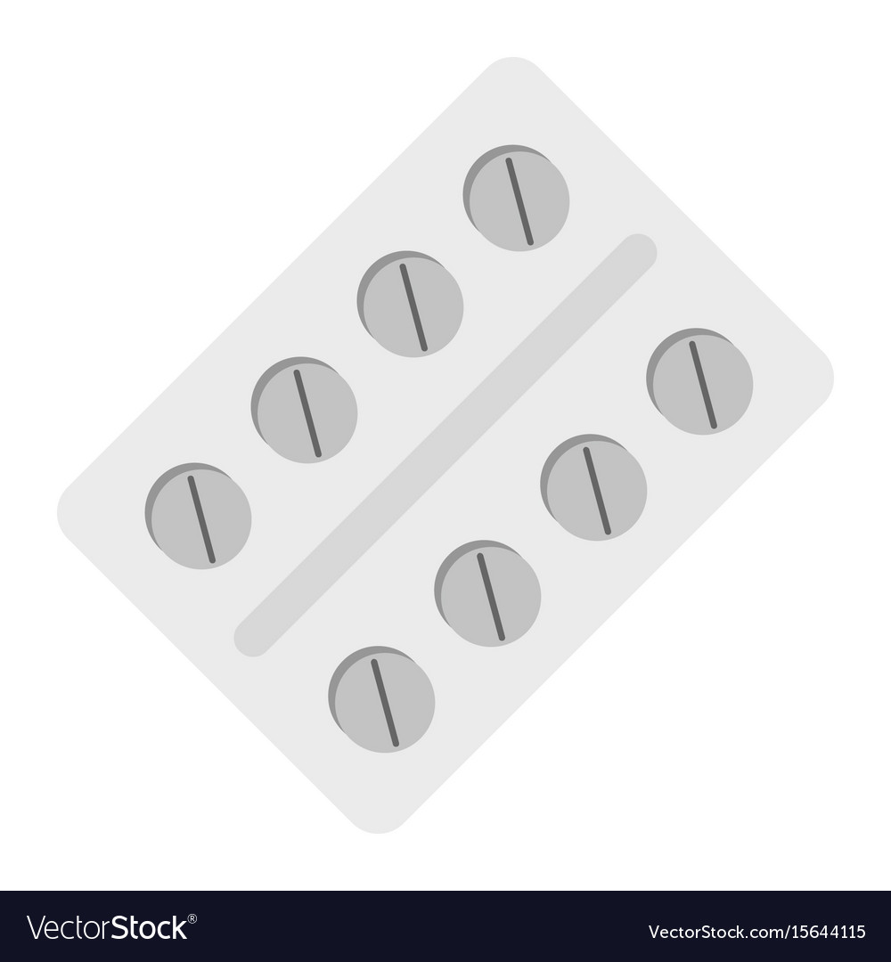 Medicine flat drug isolated on white background vector image