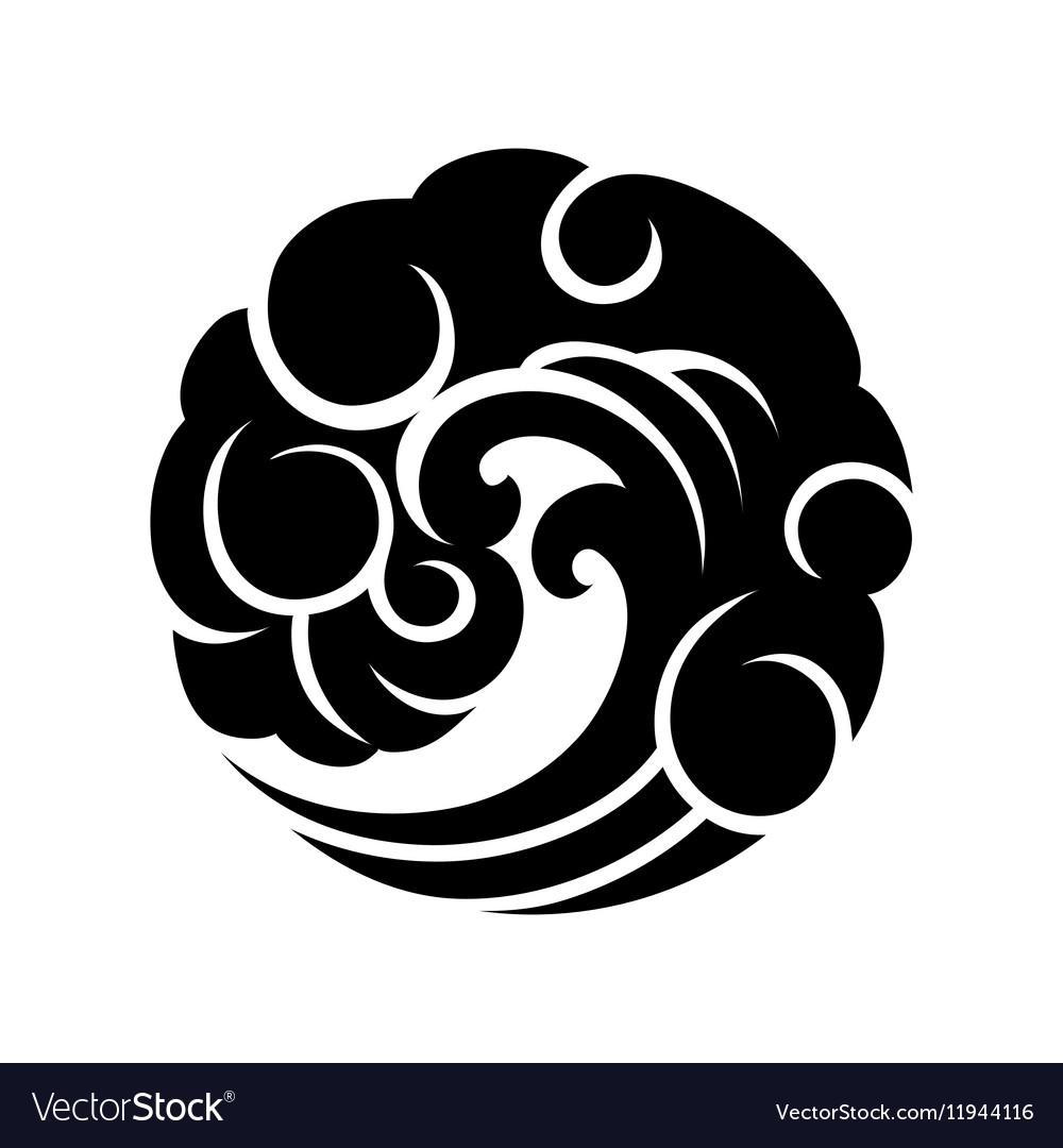 Abstract circle wave vector image