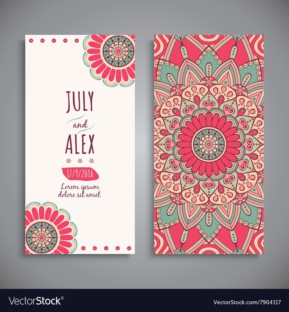Wedding card or invitation vintage decorative vector image junglespirit Choice Image