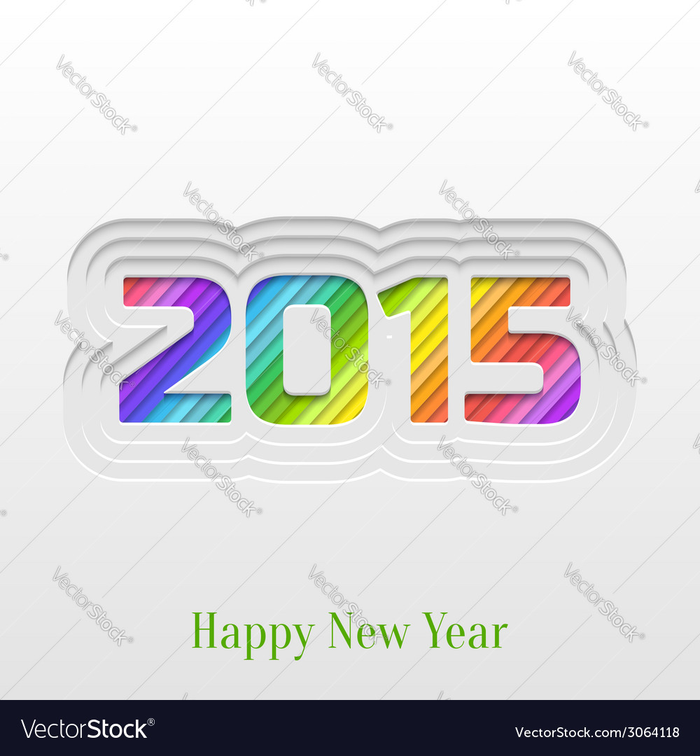 Creative 2015 happy new year greeting card vector image creative 2015 happy new year greeting card vector image kristyandbryce Images