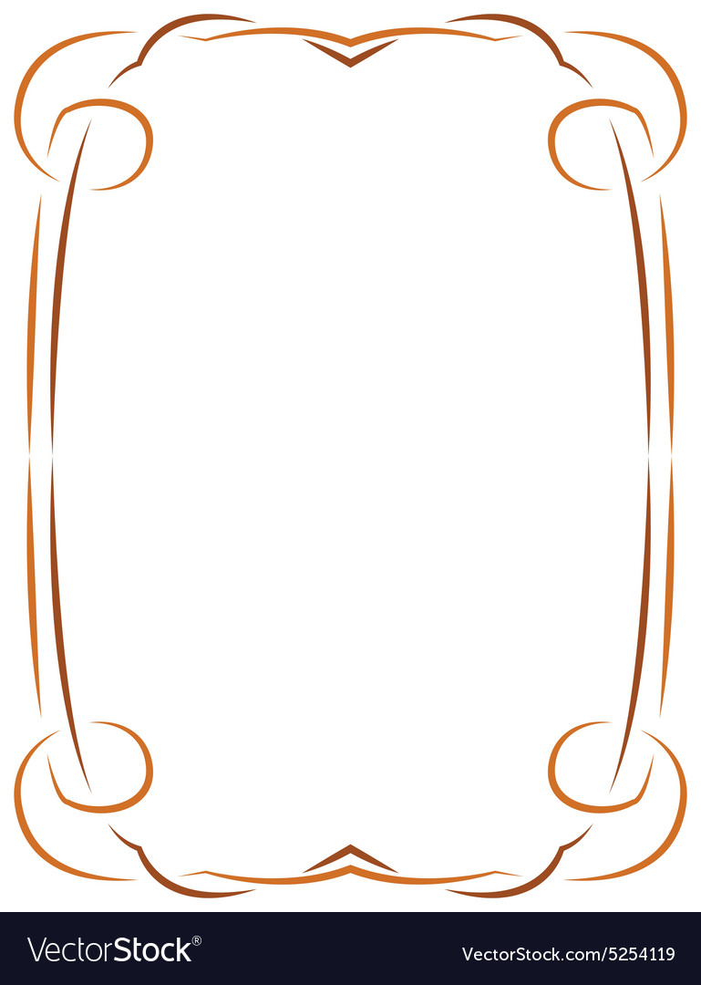 simple frame border. Simple Frame For Design Vector Image Border