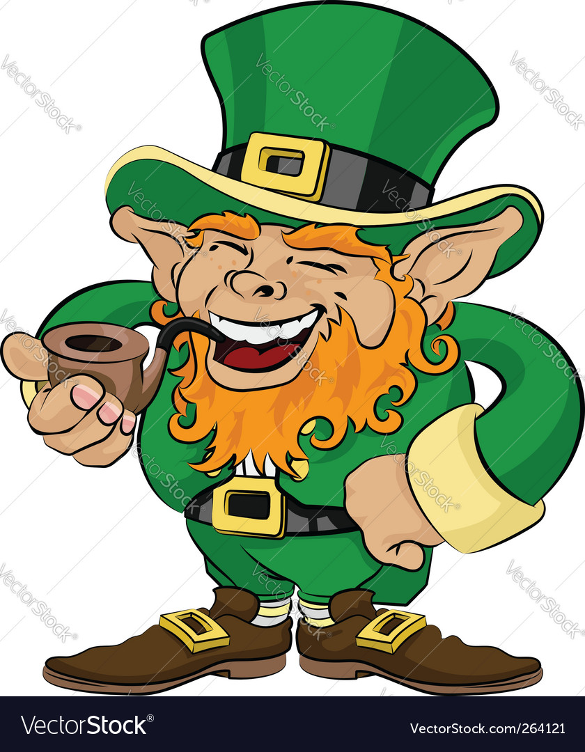 st patrick u0027s day leprechaun royalty free vector image