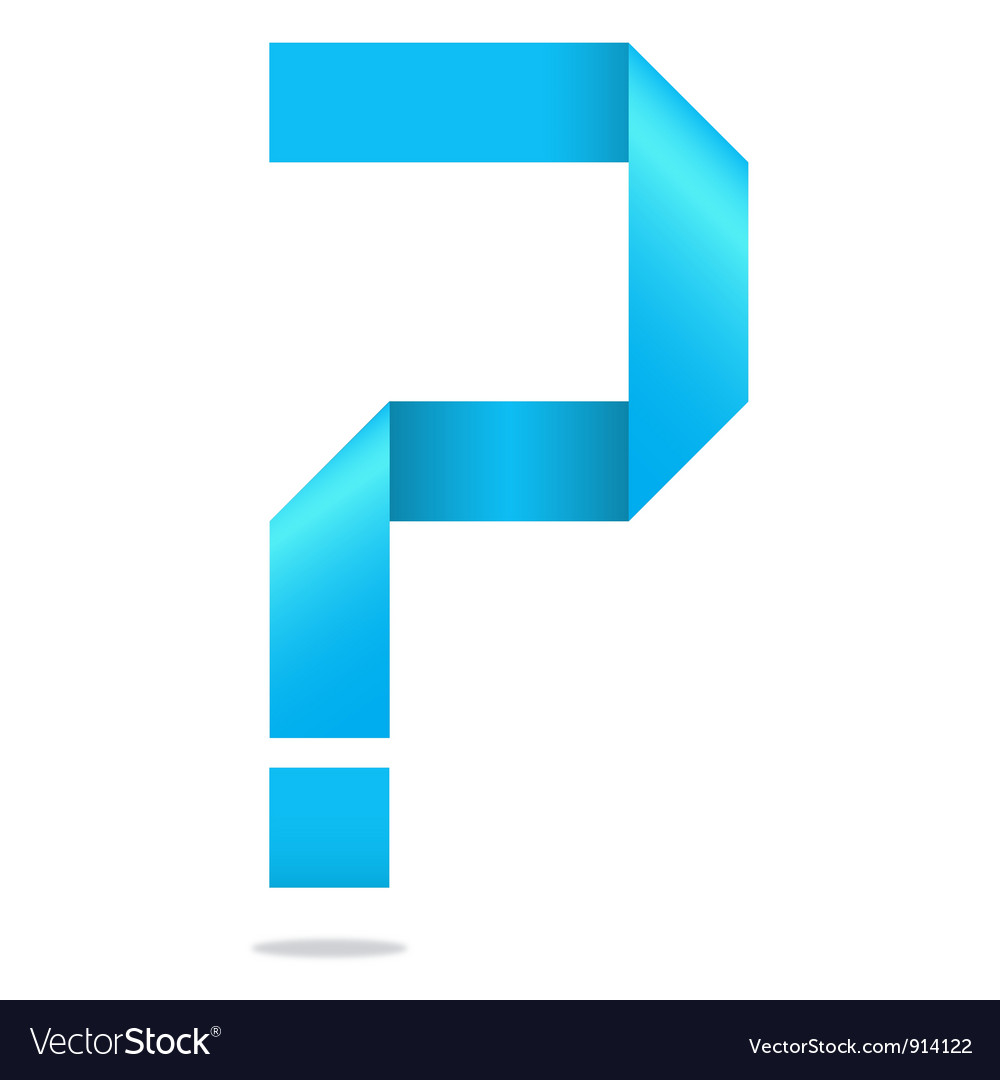 Problem help question mark Vector Image