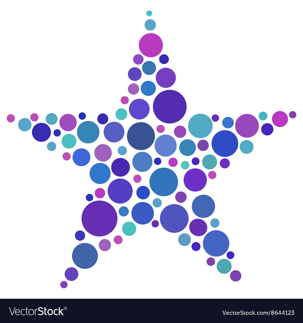 star shape made of colored circles royalty free vector image