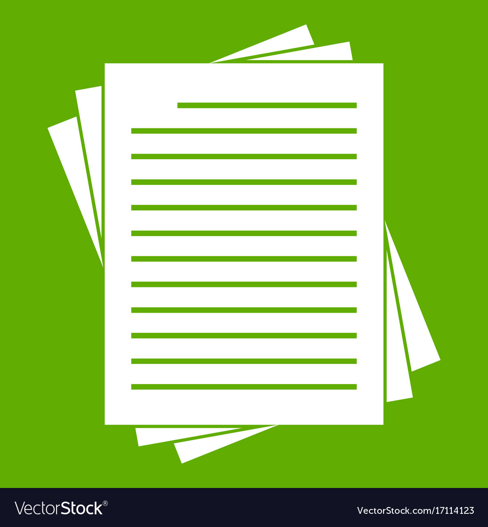 Vintage Lined Papers Icon Green Vector Image  Lined Papers