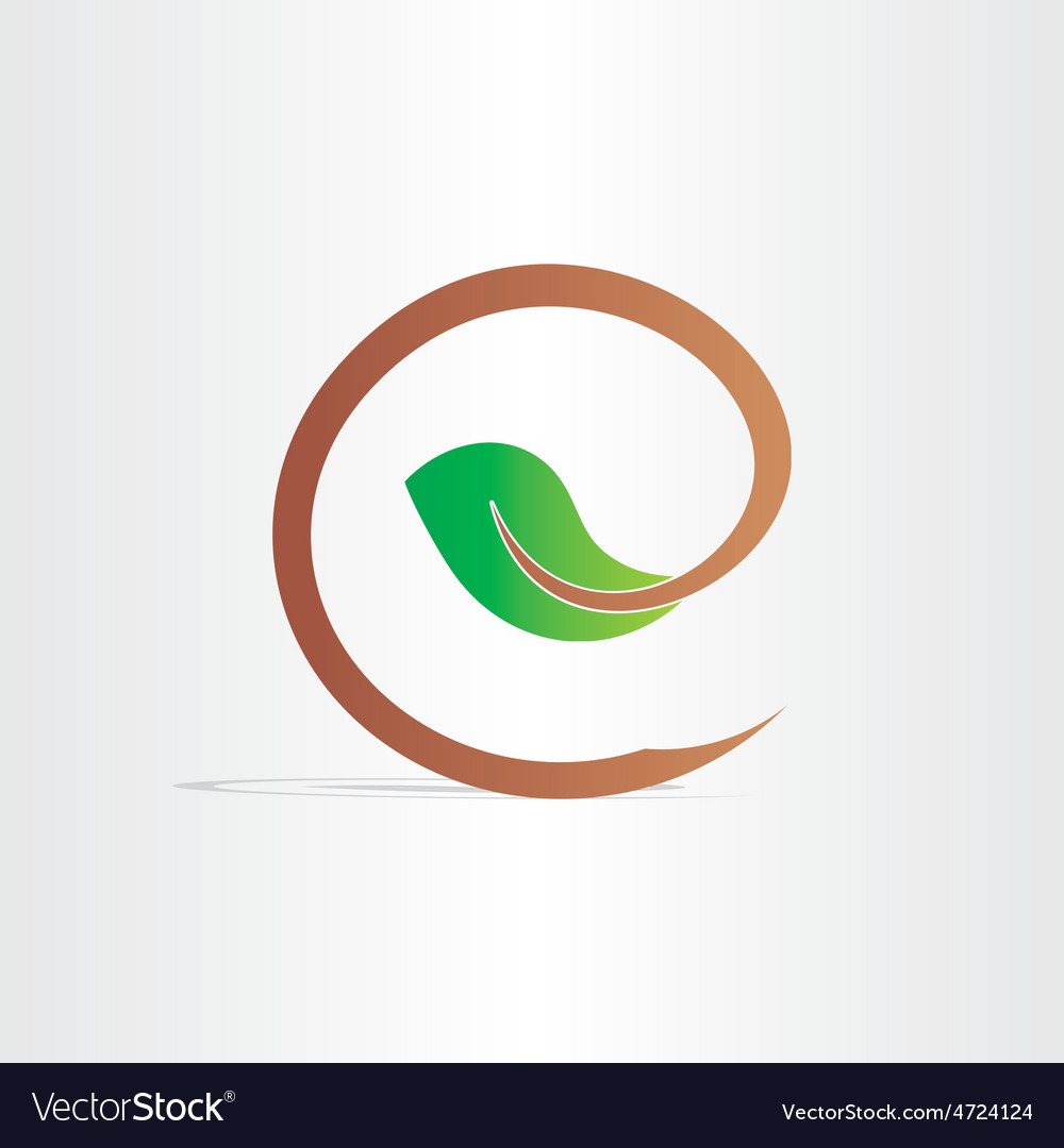 Letter e eco branch with leaf symbol royalty free vector letter e eco branch with leaf symbol vector image biocorpaavc Gallery