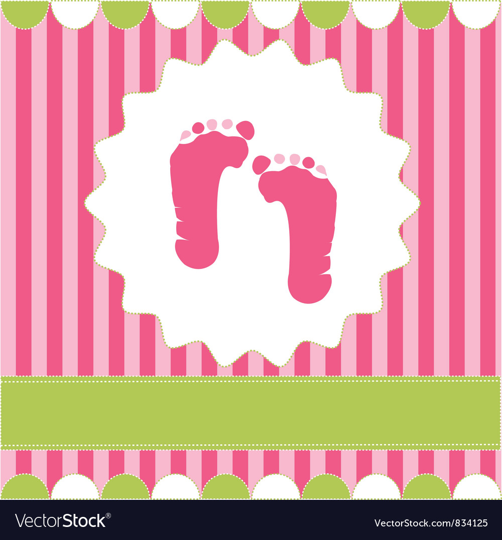 Footprint of girl vector image
