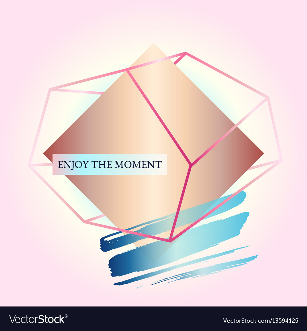 Geometric poster styles of art deco and memphis vector image